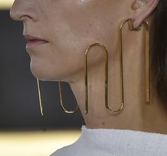 Loewe SS15 by JW Anderson.  These earrings are everything.  A true #StatementPiece