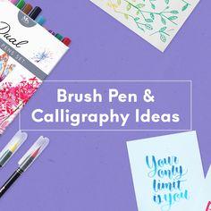 Brush Pen Calligraphy, Brush Pen Art, Hand Lettering Tutorial, Art Tutorials, Art Supplies, New Art, Improve Yourself, Arts And Crafts, Ideas