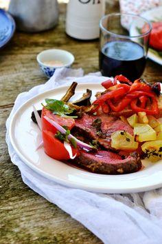 Arrosto di filetto di manzo con verdure gratinate (7)