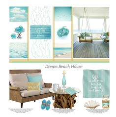 """""""Dream Beach House'"""" by dianefantasy ❤ liked on Polyvore featuring interior, interiors, interior design, home, home decor, interior decorating, CB2, Bohemia, Undercover and Kissima Drammeh"""