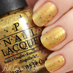 OPI Hawaii, Spring 2015 - Pineapples Have Peelings Too swatch via @alllacqueredup - these new colors are so pretty!!! I love this Gustav Klimt like color!!  #nail #gold #Hawaii