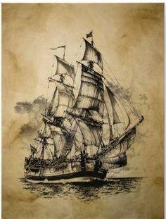#PirateShip Drawing