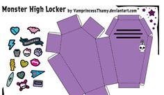 Decorar taquilla Monster High