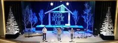 Christina MacDowell from Assembly Christian Center in New Iberia, LA brings us this Christmassy stage design.