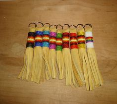 Native American beaded keychains, $10.00 each plus shipping.