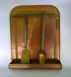 French vintage copper and brass utensil holder made in France top quality