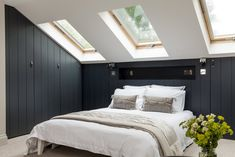 Bespoke London based property developers producing high end residential projects Bedroom Nook, Attic Bedrooms, Guest Bedrooms, Master Bedroom, Victorian Terrace Interior, Extra Bedroom, Attic Conversion, Sell Your House Fast, Scandinavian Bedroom