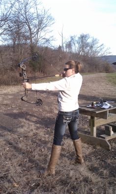 Best Birthday gift ever! Compound bow action!
