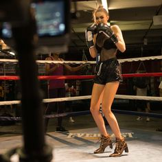 Gigi Hadid BTS of filming #DoItRight film, directed by James Franco.