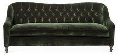 Waverly Tufted Sofa, Forest Velvet $2,995.00