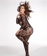 Dreamgirl Long Sleeve       Lace Bodystocking   Plus Size