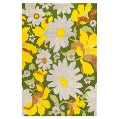 Retro floral rug