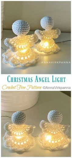 Christmas Angel Light Crochet Free Patterns - Crochet & Knitting - knitting is . Christmas Angel Light Crochet Free Patterns - Crochet & Knitting - knitting is as easy as 3 Knitting boils dow. Crochet Easter, Holiday Crochet, Christmas Knitting, Free Christmas Crochet Patterns, Crochet Gratis, Free Crochet, Crochet Dolls, Knitting Stitches, Knitting Patterns