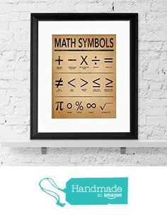Math Symbols Fine Art Print for Home, Office or Classroom. Mathematics Typography Poster. from Echo Literary Arts https://www.amazon.com/dp/B01DH4MO86/ref=hnd_sw_r_pi_dp_AzlMxbDCXJKRP #handmadeatamazon