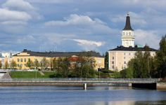 Oulu, Suomi, Taivas, Pilvet, Kirkko, Rakennukset