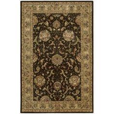Nourison 2000 Hand Tufted Wool Silk Kashan Brown Rug (2'6 x 4'3-Standard)