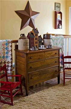 .this old oak dresser.....fits in any decor..love mine