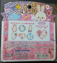 Kamio Japan White Mimmy Bunny Kawaii Stickers Sack sticker flakes stationery | eBay