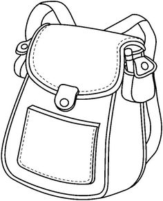 Coloring Pages to print for kids School 2 - Back To School Back To School Highschool, I School, School Bags, School Ideas, Coloring Pages To Print, Coloring For Kids, Coloring Books, School Supplies In Spanish, Charlie E Lola