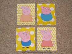 peppa pig prints nursery playroom