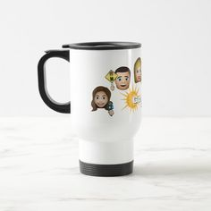 FOX 4 Good Day Emoji Travel Mug - tap to personalize and get yours  #fox4 #goodday #dallas #fortworth Emoji Drawings, Funny Emoticons, Hot Chocolate Mug, Emoji Pictures, Toys For Tots, Travel Gifts, Travel Mugs, Christmas Mugs, White Elephant Gifts