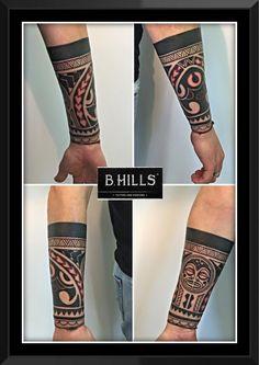 Maori Tattoo #maori #tattoo #black #red #ink #ladyoktopustattoo #bhillstattoo