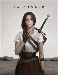 Art by Kim Bum Korean illustrator 3d Fantasy, Fantasy Warrior, Medieval Fantasy, Fantasy Women, Kim Bum, Character Concept, Character Art, Concept Art, Fantasy Inspiration