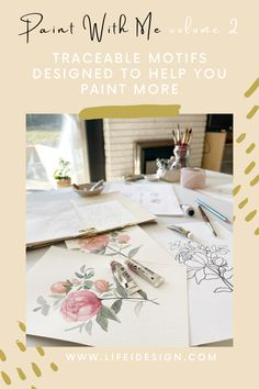 Paint With Me - Traceable Watercolor eBook VOLUME 2 — Nicki Traikos | life i design | Learn Watercolor Painting, Watercolor Beginner, Watercolor Lettering, Creative Class, Creative Skills, Online Painting Classes, Artist Supplies, Motif Design, Watercolor Techniques