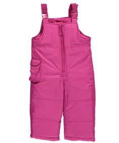 """London Fog Baby Girls' """"Cargo Hip"""" Bib Snowpants - fuchsia, 18 months -- Awesome products selected by Anna Churchill"""