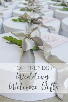 """""""TOP TRENDS IN WEDDING WELCOME GIFTS"""" Marigold & Grey creates artisan gifts for all occasions. Wedding welcome gifts. Workshop swag. Client gifts. Corporate event gifts. Bridesmaid gifts. Groomsmen Gifts. Holiday Gifts. Order online or inquire about custom gift design. www.marigoldgrey.com"""
