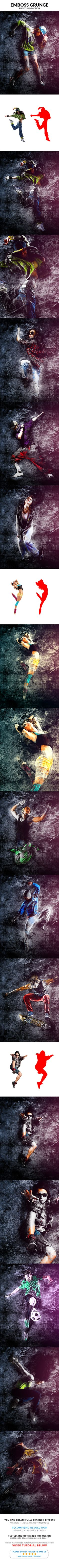 Emboss Grunge Photoshop Action #template #art Download : https://graphicriver.net/item/emboss-grunge-photoshop-action/21200956?ref=pxcr