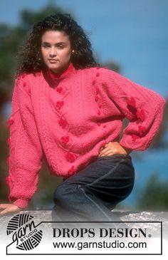 DROPS sweater i Camelia med Strukturmønster og bobler