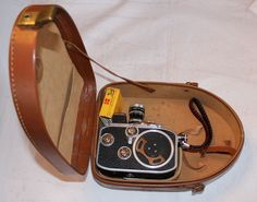 Vintage Bolex Paillard Movie Camera in Leather Case #Bolex