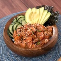 Satisfy your sushi craving with this twist on a hawaiian-inspired salmon poké bowl. It's refreshing, comforting, and incredibly delicious!. Ingredients: For the fish: 1 lb sushi-grade salmon filet, cubed 5 tbsp low-sodium soy sauce 2 tbsp sesame oil 2 tbsp lime juice 2 tsp rice wine vinegar ½ tbsp sriracha 2 tbsp green onion, thinly sliced, For the rice: 1 cup sushi rice 5 tbsp rice wine vinegar 1 tsp sugar salt, to taste seasoned seaweed, to taste, For the toppings: ½ ripe avocado, thinly…