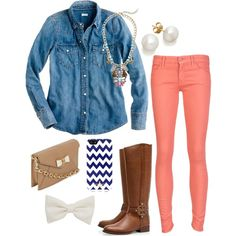 """chevron and on"" by the-southern-prep on Polyvore"