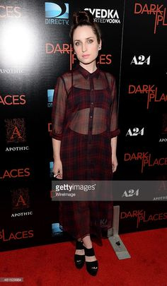Actress Zoe Lister-Jones attends Apothic Wines and SVEDKA Vodka Present The Los Angeles Premiere Of A24 And DIRECTV's 'DARK PLACES' at Harmony Gold Theater on July 21, 2015 in Los Angeles, California.