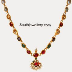 Simple navratna necklace studded with nine different gemstones. Related PostsNavaratna and Pearls Necklace SetBeautiful Navratna NecklaceAntique Navratna NecklaceAttractive Navratna NecklaceJadau Polki Navratna Necklace SetColorful Navaratna Jewellery Designs @ Amrapali Exhibition