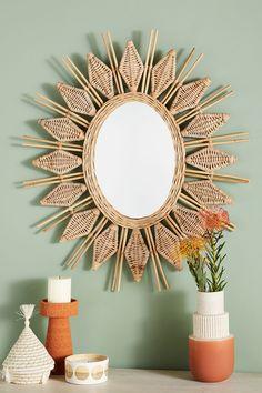 Wall art decor, home decor mirrors, diy home decor, justina blakeney, Summer Deco, Home Decor Mirrors, Diy Home Decor, Wall Decor, Diy Mirror Decor, Wall Art, Room Decor, Rattan Furniture, Plywood Furniture