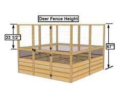 """Deer Proof Cedar Complete Raised Garden Bed Kit -  (w optional automatic watering system) 8' x 8' x 20"""""""