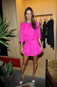 Alessandra Ambrosio at the Isabel Marant BBQ party to celebrate the first year of her store