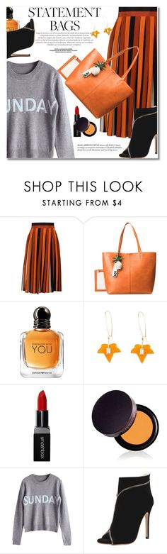 """Carry On: Statement Bags"" by svijetlana ❤ liked on Polyvore featuring Givenchy, Emporio Armani, Smashbox, Laura Mercier, statementbags and zaful"