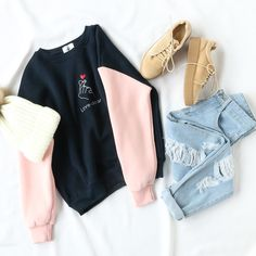 Love you  #love #colorblock #casual #ootd #weekendstyle #romwe