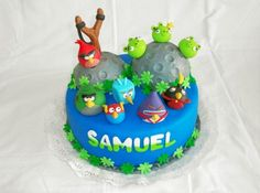 Torta Angry Birds Space