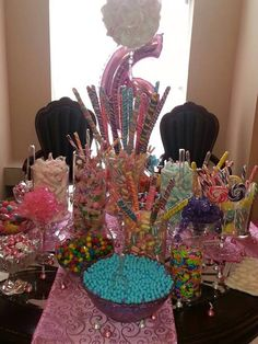 6 year old birthday party candy buffet