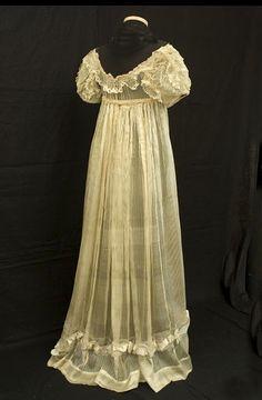 regency gowns 1805 | Regency dress, c. 1805. | Ruffles  Lace