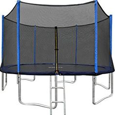ORCC Trampoline 15 14 12 FT Outdoor Trampoline with Enclosure Net Ladder Pad Jumping Mat T-Hook Rain Cover, Safe Backyard Trampoline for Kids Adults, Including All Accessories Trampoline Ladder, Outdoor Trampoline, Trampoline Safety, Backyard Trampoline, Backyard Farming, Trampoline Reviews, Professional Trampoline, Cooler Reviews, Things That Bounce