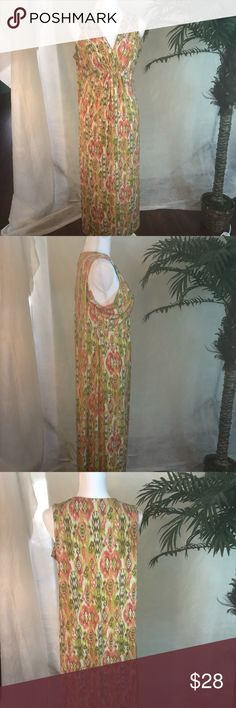 Rudy Rd. Spring/Summer Maxi dress Size L Rudy Rd. Spring/Summer Maxi dress, with in my opinion Aztec print, sleeveless, previously loved in great condition.   Please see pictures for a more informed decision. Ruby Rd. Dresses Maxi