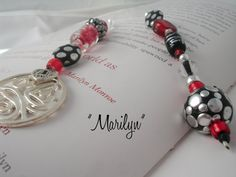 Designer Beaded Bookmark  Marilyn by SassyBookBling on Etsy, $19.00