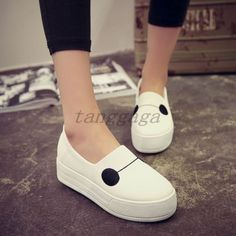 Casual-Girls-Lovely-Womens-Slip-On-Loafers-Leisure-Mary-Jane-Cartoon-Flat-Shoes