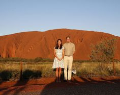 Kate and Will visiting Ayers Rock